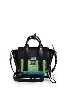 3.1 Phillip Lim - Pashli Small Mixed-Media Satchel