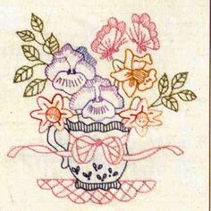 Butterfly Brew By Bronwyn Hayes  Kit includes DMC stranded cotton, calico, transfer paper, embroidery needle and all instructions.  Stitched area is 14.5 cm x 14 cm  Could be used as a picture, cushion top, or panel in a quilt.