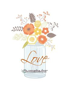 Fall Love Jar Printable | The Everyday Home