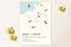 Destination Save the Date Cards by Unless Someone Like You at minted.com