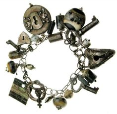 handmade locks and key Charm Bracelet