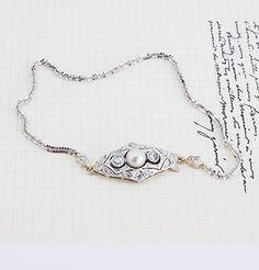 Edwardian Pearl and Diamond Clasp Bracelet, $1,000.00