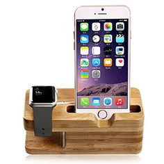 Apple Watch Stand, Aerb iWatch Bamboo Wood Charging Stand Bracket Docking Station Stock Cradle Holder for Both 38mm and 42mm  Features:      ✔ Buy from Aerb Inc for Authentic products only;   ✔ Special designed for 2015 Apple Watch & Sport & Edition;   ✔ Compatible with both the 38mm and 42mm sizes;   ✔ Helps when you need to charge your apple watch, provide you more convenience than ever;   ✔ Charger and cable openings compatible with Apple Watch charger;   ✔ Charging Cable & ..