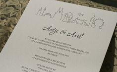 Custom Wedding Invitation Design by Melissa Rachel Black, via Flickr