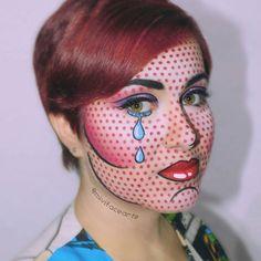pop art inspired costume makeup by MrPolychrome on DeviantArt