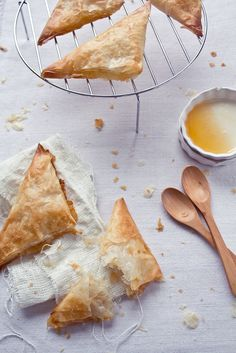 Phyllo Turnovers with Brie and Honey. To die for!