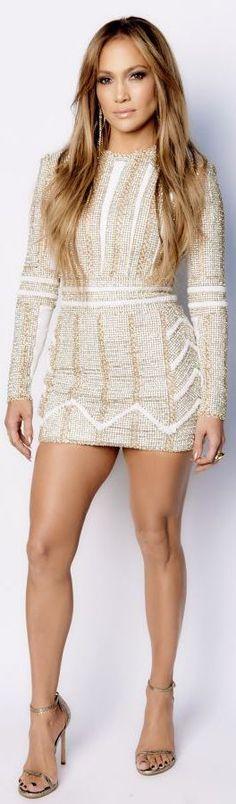 J.Lo wore this embellished Nicolas Jebran number on American Idol. | cynthia reccord
