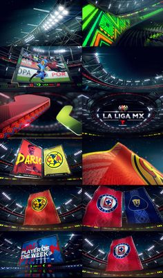 """concepts designs for """"la liga mx"""" done trough king and country."""