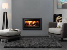 The Stovax Studio Profil inset fire features ultra contemporary styling that fits in perfectly with all modern interiors. The wood burning Studio Profil is