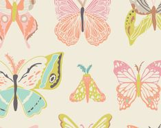 Butterfly Fabric by Art Gallery Fabrics, Wingspan Melon by Bonnie Christine, Butterfly Cotton Fabric - Edit Listing - Etsy