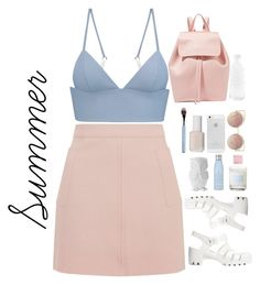 """""""Outfit n°42"""" by loveyoualll ❤ liked on Polyvore featuring T By Alexander Wang, Topshop, Mansur Gavriel, MANGO, canvas, Essie, Design 55, JuJu, Drybar and Korres"""
