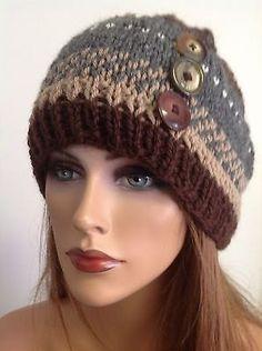 Hand Knit Wool Hat Beanie Cap Fair Isle Knit  by HANDKNITS2LOVE, $38.00