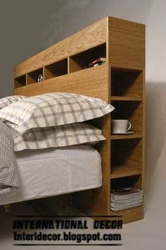 - If you wanted to convert your yawn producing bedroom to an elegant sanctuary you need to change the headboard design. There are lots of easy ideas tha. Exciting Ideas for DIY Headboard Designs Diy Storage Headboard, Headboard With Shelves, Bookcase Headboard, Bed Storage, Bedroom Storage, Storage Spaces, Bed With Shelves, Headboards With Storage, Plywood Storage