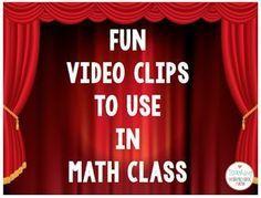 Recomendaciones de videos para usar en clase de matemáticas, ¡algunos son muy divertidos!