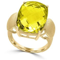Effy 14K Yellow Gold Lemon Quartz Ring ($1,872) ❤ liked on Polyvore featuring jewelry, rings, yellow, yellow ring, effy jewelry, 14k yellow gold jewelry, 14 karat ring and 14 karat gold jewelry