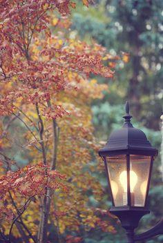 Fall lamppost