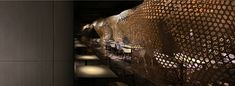 restaurant in china by infinity nide features traditional handmade bamboo weaving