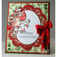 Cardinal Arches made w/ Festive Holly collection from #HeartfeltCreations #Christmas