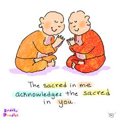 *Today's Buddha Doodle* - An Honor and Delight.… Cute!