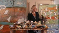 Artist Kerrie Lester at her home in Mosman.