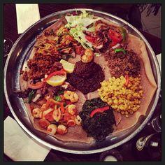 Wonderful Eritrean dinner at Adulis, London
