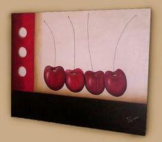 Risultati immagini per cuadros minimalistas Commercial Art, Canvas, Watercolor, Fruit, Painting, Cherries, Art Art, Google, Canvas Art