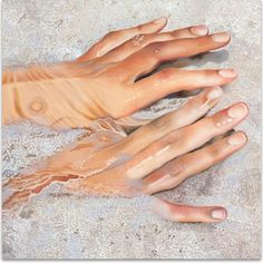 Painting/Painting in general/Oil painting/Canvas/Figurative/Hyperrealism/Nude - Body