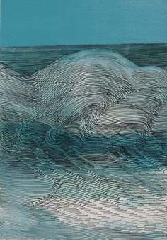 pinkpagodastudio: Wilhelmina Barns-Graham--Sea Waves and Currents Great Paintings, Beautiful Paintings, Wave Drawing, Abstract Painters, Abstract Art, Artistic Installation, Sea Waves, Contemporary Landscape, Medium Art