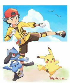 Ash Pokemon, Pokemon Team, Pokemon Ash And Serena, Cute Pokemon, Pokemon Cards, Pikachu, Pokemon Stuff, Pokemon Fusion, Kingdom Hearts