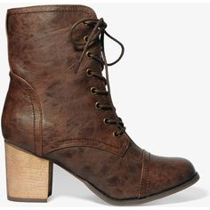 FOREVER 21 Faux Shearling Lace-Up Boots ($35) ❤ liked on Polyvore