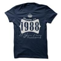 Made In 1988 - 27 Years Of Being Awesome!! Cheap Hoodie 2015
