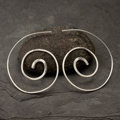 Sterling Silver Spiral Earrings Spiral Earrings by Artulia on Etsy, $28.00