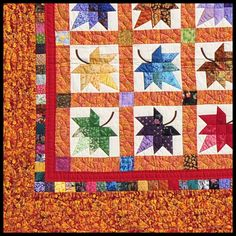 Beautiful!  Love the colors!  (Autumn Splendor - Quilts | Handmade Amish Quilts)