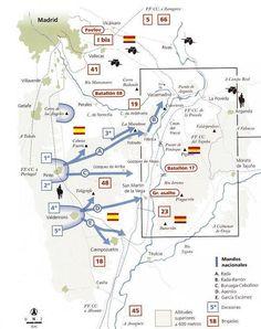 MAPA DE OPERACIONES BATALLA DEL JARAMA Madrid, Battle, Charts, Image, Maps, Spanish, Vietnam War, Soldiers, Tanks