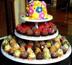 King Cake - Cupcake Tower