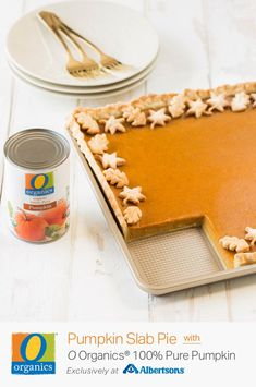 Spread even more holiday cheer with this Pumpkin Slab Pie recipe, made in just a matter of minutes. Get O Organics® Pure Pumpkin exclusively at Albertsons and craft this delicious baked dessert completely from scratch. The flakey and flavorful crust Pumpkin Slab Pie Recipe, Pumpkin Recipes, Fall Recipes, Holiday Recipes, Pumpkin Pies, Thanksgiving Recipes, Pumpkin Foods, Thanksgiving 2017, Holiday Treats