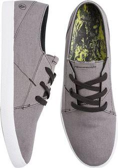 Grey Volcom shoes. http://www.swell.com/New-Arrivals-Mens/VOLCOM-LO-FI-SHOE-11?cs=GR
