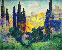 The Cypresses at Cagnes, 1908  Henri-Edmond Cross .............#GT