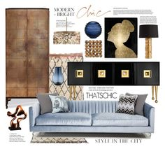 """Modern Chic"" by esch103 ❤ liked on Polyvore featuring interior, interiors, interior design, home, home decor, interior decorating, Arteriors, Uttermost, Jonathan Adler and Oliver Gal Artist Co."