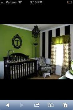 Baby room.  green. Black.
