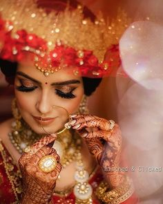 bridal photography poses Bridal Portraits like this has our heart Best Bridal Makeup, Indian Bridal Makeup, Bride Makeup, Bride Photography, Indian Wedding Photography, Photography Ideas, Portrait Photography, Bridal Poses, Bridal Shoot