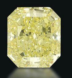 This 70.19ct, VS2 fancy vivid yellow unmounted diamond (lot 238) will rise like the sun at Christie's Geneva next week. Presale estimate 3.1 Million - 5.1 Million Dollars. - posted 11-8-2012