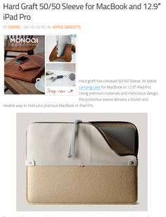 Hard graft has released Sleeve, its latest carrying case for MacBook or iPad Pro. Using premium materials and meticulous design, the protective sleeve delivers a stylish and reliable way to hold your precious MacBook or iPad Pro. Hard Graft, Ipad Pro 12 9, Macbook, Carry On, 50th, Shop Now, Art Pieces, Stylish, Sleeves