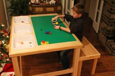 Lego table with built in storage and two person by TheCarpenTree, $350.00