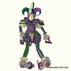 Another Jester Doll Mardi Gras, Masquerade, Party Themes, Dolls, Carnival, Baby Dolls, Puppet, Masquerades, Doll