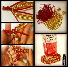 arm candy!  friandises à bras!  #diy #bracelet #brico