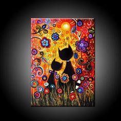 Resultado de imagen para luna y estrellas pinturas abstractas