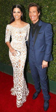 Emmy Awards 2014: Arrivals : Matthew McConahey and Camilla Alves
