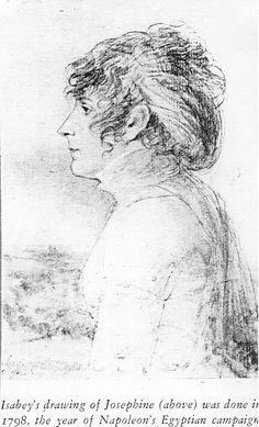 Drawing of Josephine Bonaparte by Jean-Baptiste Isabey