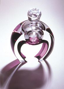 """Horseshoe Perfume""  Art Glass Perfume Bottle    Created by Kevin Kutch and Mary Ellen Buxton"